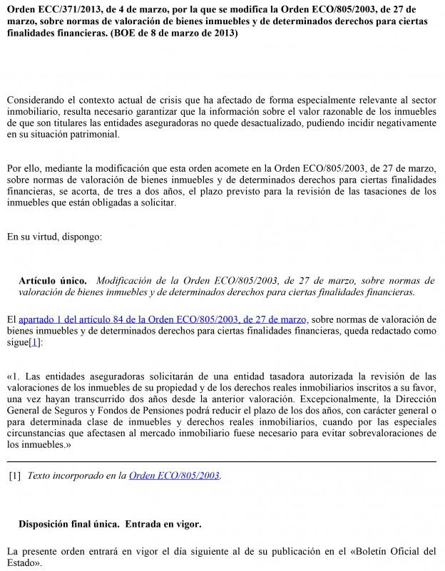 Orden ECC/371/2013, de 4 de marzo